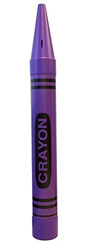ROCKYMART Universal Affect - Crayon Coin Savings Bank - Dimensions are Approximately 22.5' Tall x 2.25' Wide & deep - Color: Purple