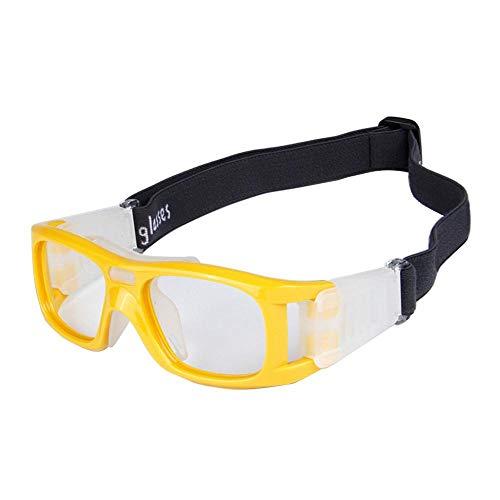 Aeromdale Sportbrillen Schutz Sicherheit Schutz Basketball Brille mit verstellbarem Gurt für Basketball Fußball Volleyball Hockey Fußball Eyewear Protector Unisex - Grau - # 5