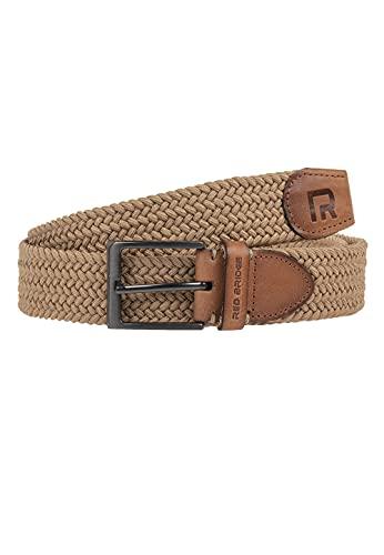 Redbridge Cinturón elástico para hombres y mujeres Trenzado Unisex Beige 100