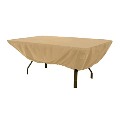 Classic Accessories Terrazzo Rectangular/Oval Patio Table Cover, Retail