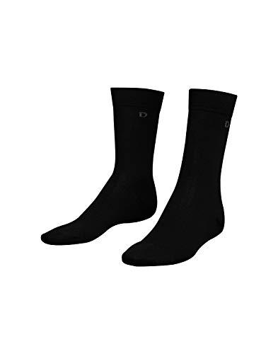 Dilling Herren Socken aus Bio-Merinowolle Schwarz 43-46
