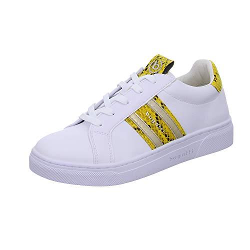 bugatti 431877025058, Basket Femme, Weiß White Yellow 2050, 40 EU
