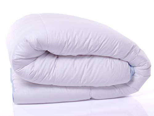 Bettdecke Decke aus Baumwolle Warm Winterdecke Weiss Übergröße 200x200 240x260 cm (200 x 200 cm)