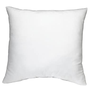 DreamHome Square Poly Pillow Insert, 18  L X 18  W, White