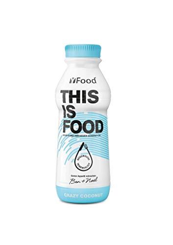 YFood Coconut, Batido Sustitutivo | Sustitutivo de comida sin lactosa ni gluten | 33g de proteínas, 26 vitaminas y minerales | 25% de las calorías diarias requeridas | 12 x 500 ml (1kcal/ml)