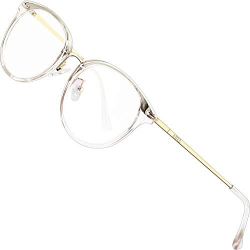ATTCL Unisex blaulichtfilter brille computerbrille zum Blockieren von UV-Kopfschmerz [Augenbelastung Reduzieren] Gaming Brillen(Herren/Damen) 19702 Transparent