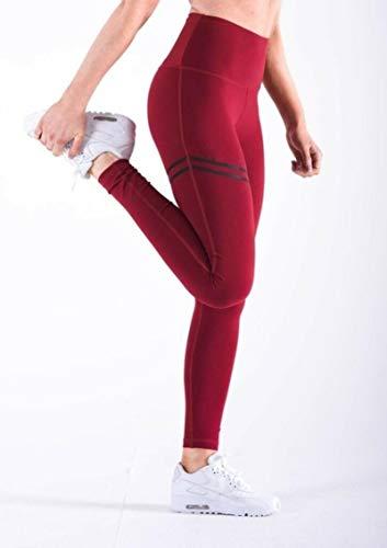 ADDYZ Pantalones de mujer de fitness leggings de impresión de cintura alta pantalones de correr gimnasio deportes pantalones de jogging pantalones