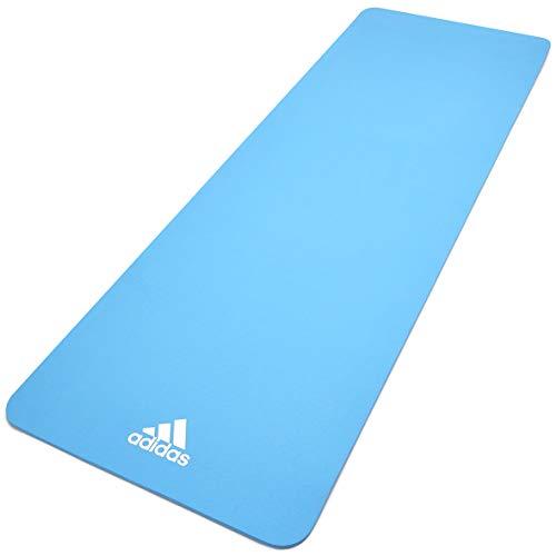 adidas, Yoga Mat-8mm-Glow Blue Unisex-Adult, Bagliore Blu