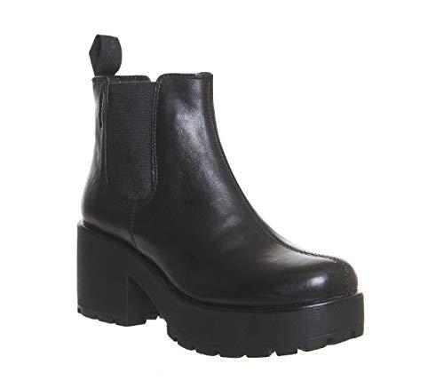 Vagabond Dioon Leather Elastic Chelsea Ankle Chunky Block Boots US5.5 EU36 UK3 Black