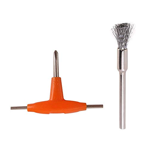 ZHTY Kit d'outils Vape Mini Brosse de Nettoyage de Bobine avec hexagone en Forme de T et Tournevis cruciforme pour Outil de Bricolage RDA RBA RTA