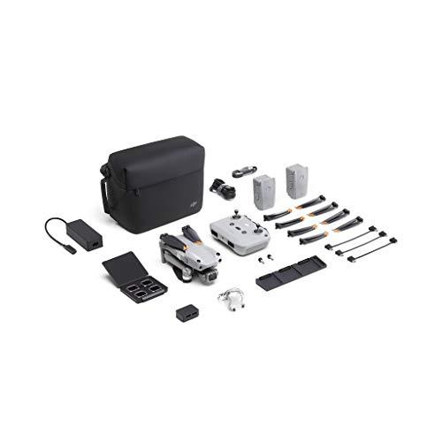 """DJIAir2S FlyMoreCombo- Drone, Gimbal a 3 Assi con Fotocamera, Video 5.4K, Sensore CMOS 1"""", Rilevamento Ostacoli in 4 Direzioni, 31 min di Volo, Trasmissione 12km FHD FCC, MasterShots, Grigio"""