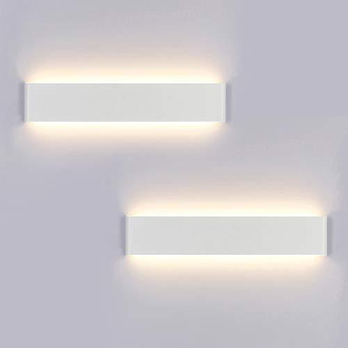 Yafido 2x Aplique Pared Interior LED 40CM Lámpara de pared 14W Blanco Cálido para Salon Dormitorio Sala Pasillo Escalera AC 230V
