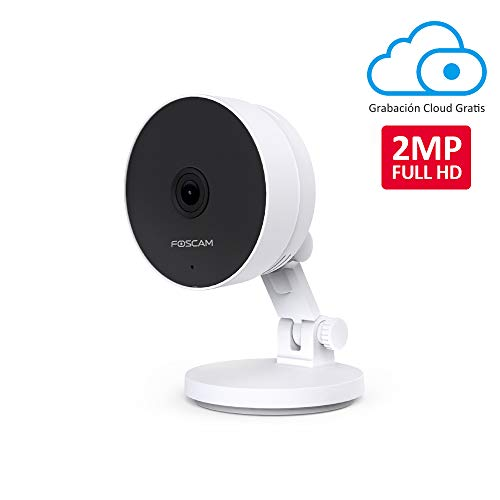 Foscam C2M Cámara IP WiFi 2MP, Seguridad, AI Detección Humana, Audio Bidireccional, Visión Nocturna, Compatible con Alexa, (P2P, 1080p, ONVIF)