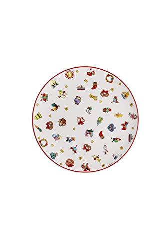 Hutschenreuther Christmas Memories-40 Jahre mit Ole Winther Teller flach, Porzellan, Mehrfarbig, 22 x 23 x 3 cm