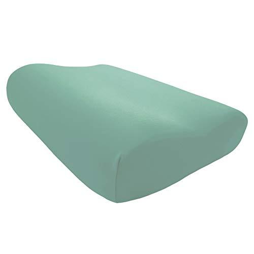 Edda Lux Tempur Shape - Funda para almohada cervical (S/M/L, 50 x 31 cm, 20 colores, algodón)
