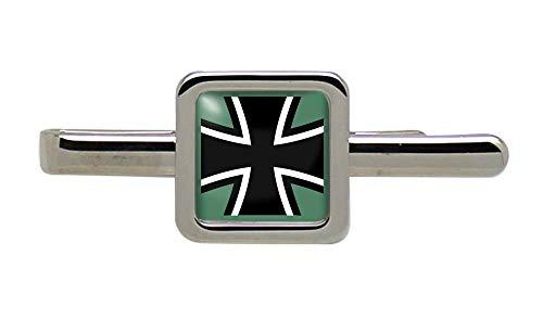 Giftshop UK Eidgenössisches Verteidigung Streitkräfte von Deutschland (Bundeswehr) Quadratisch Krawatte Clip