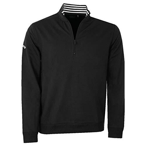 Callaway Herren Französisch Terry 1/4 Zip Pullover Golf Sweater - Caviar - XL