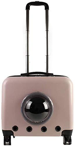 Katzentasche, Space Pet Cabin Bag Trolley Großer tragbarer, atmungsaktiver Träger Genug Koffer für Rucksack sicher
