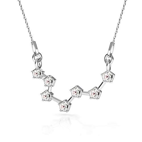 Beforia Paris - halsketting - sterrenbeeld - vissen - kristal - met zilveren ketting van 925 zilver met Swarovski® Elements hanger, cadeau, halsketting met sieradenetui PIN/75