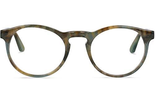 Brille mit wählbare Sehstärke (inkl. Zylinder)   Steven S.   Runde Brille aus Italienischen Acetat   Braun   Charlie Temple