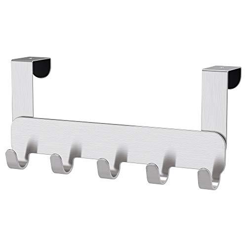 IKEA Brogrund - Perchero para puerta (203.285.44, acero inoxidable, para dormitorio, baño,...