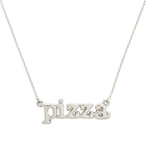 Delicacies Sterling Silver Pizza Necklace, from The Delish Collection, Jewelry for Foodies, Chefs, Cooks and Epicureans
