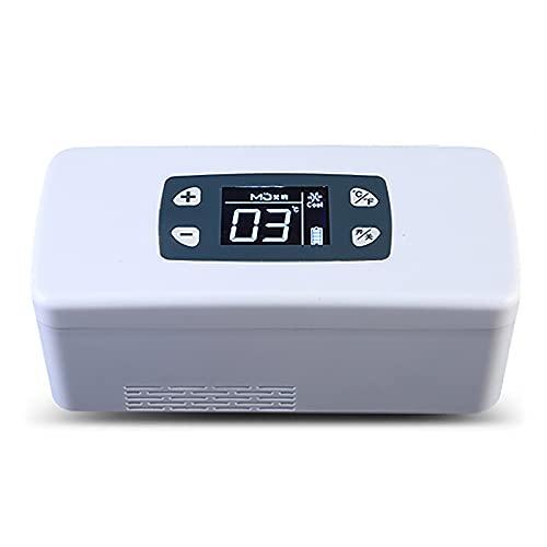 Fridges Insulina Portátil Caso del Recorrido, Mini Refrigerador de Medicamento, para el Coche, Recorrido, Hogar Ultra Silencioso Nevera, 2-8 ℃, 207x94x91mm, (La Batería Funciona de 10-12H)
