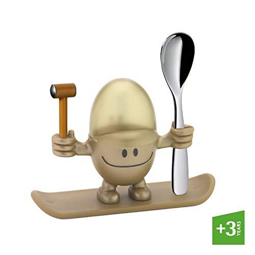 WMF McEgg Eierbecher mit Löffel, Kunststoff, Cromargan Edelstahl poliert, spülmaschinengeeignet, gold
