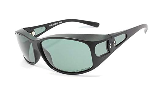 シーガル(SEAGULLL)偏光 サングラス オーバーグラス 保護メガネ ドライブ アウトドア スポーツ SGB5000-02 マットブラック/グリーン