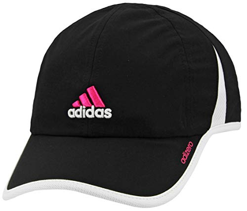 adidas Women's Adizero II Cap, Black/Shock Pink/White, ONE SIZE