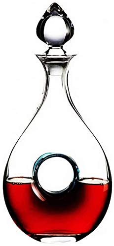 WEIJINGRIHUA Jarra de Whisky Botella De Vino De Cristal De Cristal Artificial De Cristal De Vino con Tapa De Vino Tinto De Almacenamiento De Vino Decantador De Vino Botella De Vino 1.1L