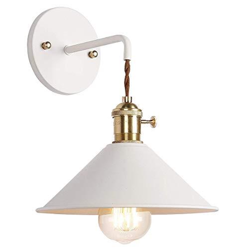 KTDT Lámparas de Pared nórdicas Simples Lámpara de Pared Macaron posmoderna E27 Soporte de lámpara de Cobre Edison con Pintura esmerilada Lámpara de cabecera de baño Accesorio de Luces de tocador