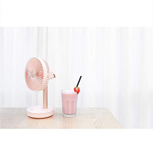 AURALLL Ventilador, 3-Velocidad, la Cabeza giratoria, Mini Ventilador de Escritorio, Apto Torre Ventilador silencioso Ventilador de Escritorio USB Ventilador de refrigeración para el Recorrido en el