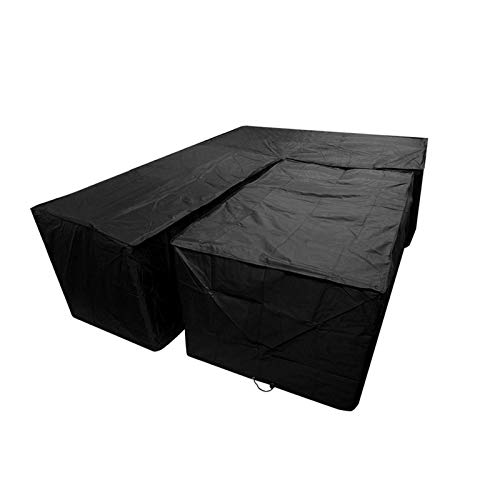 Dhouse Outdoor L-Shaped Sofa Protective Cover Dust-Proof Garden Dining Furniture Protection Cover Terrace Rattan Corner Cover Left