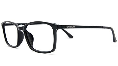 NOWAVE Lunettes neutres pour PC, tablette, TV et gaming, élimine la fatigue visuelle et les maux de tête, lunettes reposantes anti-lumière bleue 40 % et UV 100 %