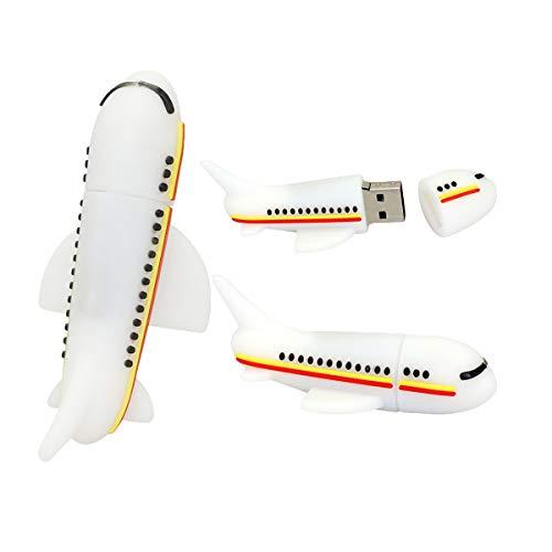 USB Flash Drive Airplane Shape 128GB USB Stick Pendrive Red - Civetman