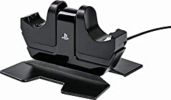 Charge up to two DualShock 4 controllers simultaneously Never worry about running out of battery Charges your controllers through an AC adapter Keeps USB ports free Officially licensed product Matches your PlayStation 4 system and DualShock 4 control...