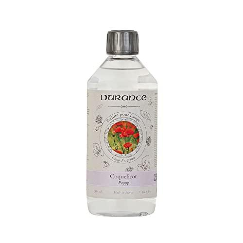 Durance - Fragancia para lámpara catalítica, aroma de amapolas, 500 ml, fabricado en Francia