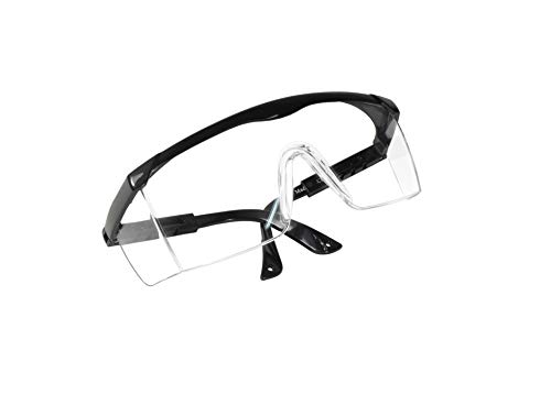 HQRP Clear Tint UV Protective Safety Goggles / Glasses for Yard work, Gardening, Lawn mowing, Weed whacking, Hedge trimming