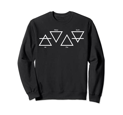 Air Feu Eau Terre Quatre Éléments Symboles Triangle Grec Sweatshirt