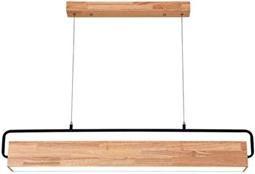Yxsd kroonluchter, modern, van hout, eettafel, kroonluchter, van rubber, hout, keuken, hanger met lichtstrips, Scandinavisch creatieve lampen gemaakt van massief hout, LED, twee kleuren van de lichtbron