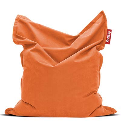 Fatboy® Original Stonewashed orange Sitzsack | Klassischer Indoor Beanbag aus Baumwolle, Sitzkissen | 180 x 140 cm