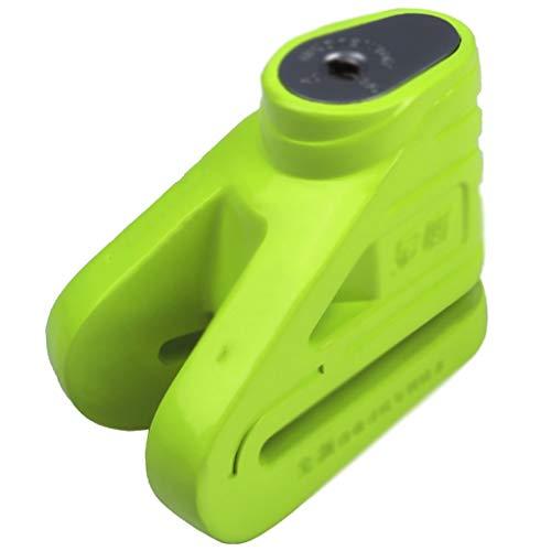 Candado Bloqueo de la motocicleta del disco de bloqueo del freno de la motocicleta antirrobo de bloqueo del coche eléctrico de bloqueo bloqueo de la batería Candado Bicicleta ( Color : Green )