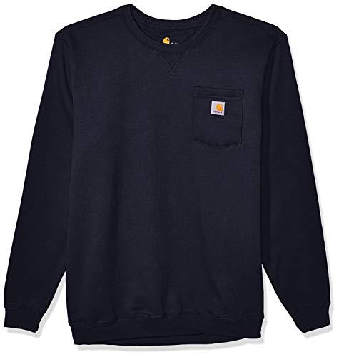 Carhartt Men's Crewneck Pocket Sweatshirt (Regular and Big & Tall Sizes), New Navy, Large