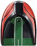 POSMA PG140RD-E - Set de entrenamiento de golf con taza de putt Kickback, alfombrilla desmontable, espejo de palanca de golf de 4 secciones, 2 bolas Tour y bolsa de transporte Cinch