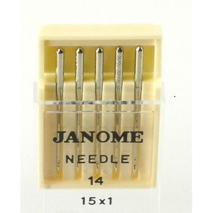 Janome Sewing Machine Needle Universal Size 14 in 5 Needles per Pack