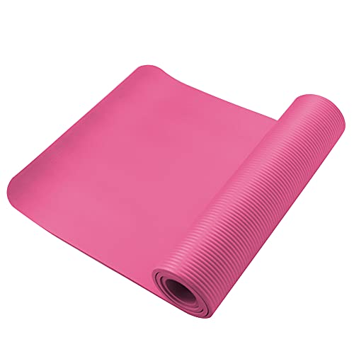Qagazine Esterilla de yoga duradera para hacer ejercicio, yoga, portátil, antideslizante, con textura para todo tipo de yoga