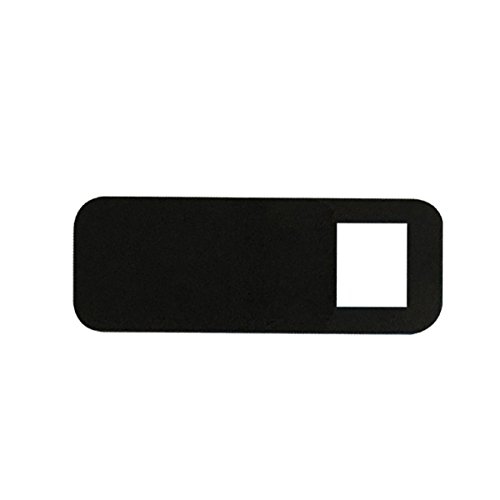 Bayda 3pzs Pegatinas Escudo de Camara de plastico Proteccion de miradas Anti-Hacker para movil PC Tablet PC Ordenador portatil Cubierta de privacidad Negro (Cuadrado)