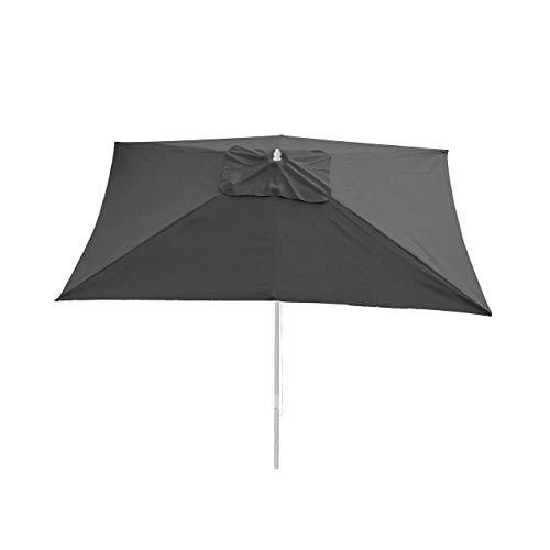 Mendler Bezug für Sonnenschirm Florida, Sonnenschirmbezug Ersatzbezug, 3x4m Polyester 6kg ~ anthrazit