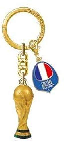 FIFA Schlüsselanhänger Weltmeisterschaft 2018 Frankreich Erwachsene, Unisex, Gold, 5 cm